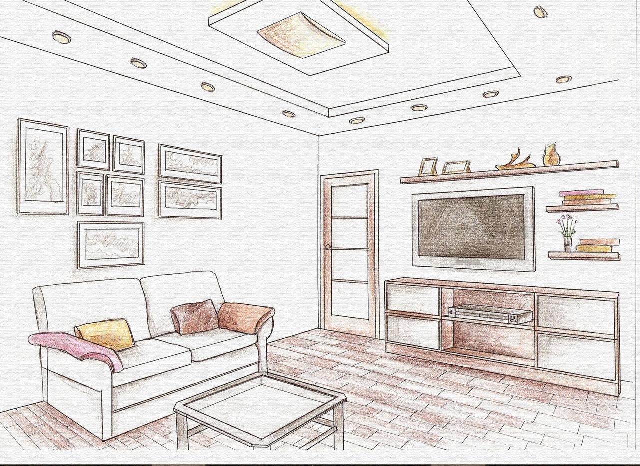 Рисунки в квартире интерьер